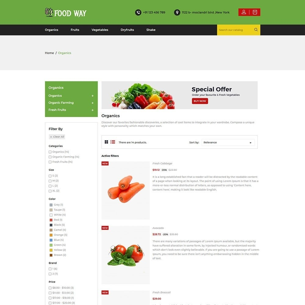 theme - Alimentos & Restaurantes - Foodway Food Store - 4