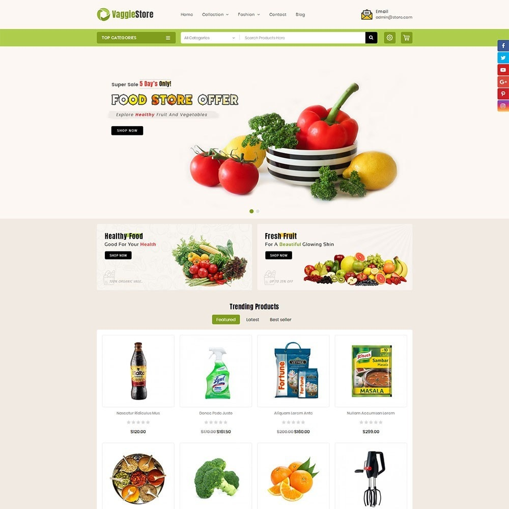 theme - Cibo & Ristorazione - Vaggie Store - 2