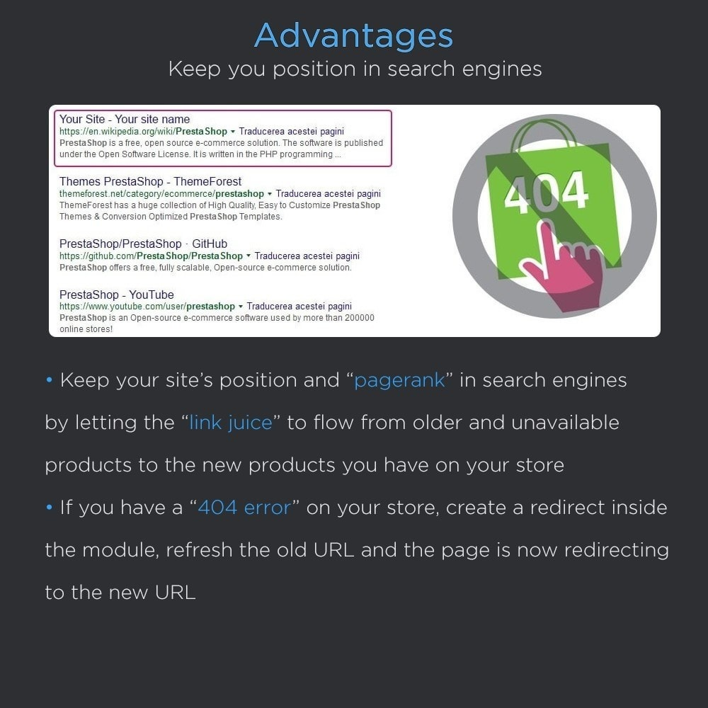 module - URL & Redirections - Seo Redirects Pro (301, 302, 303 URL Redirects) - 4