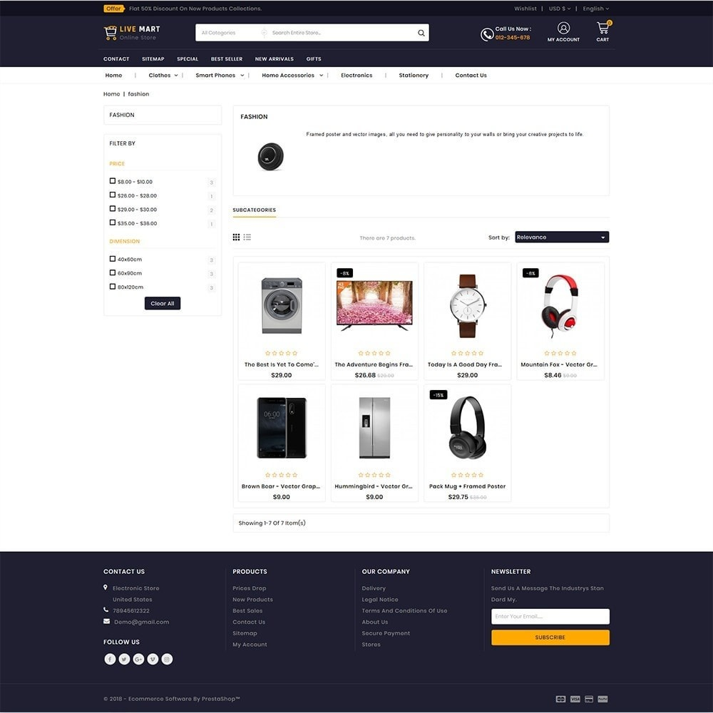 theme - Elektronika & High Tech - LiveMart - The Mega Ecommerce Store - 3