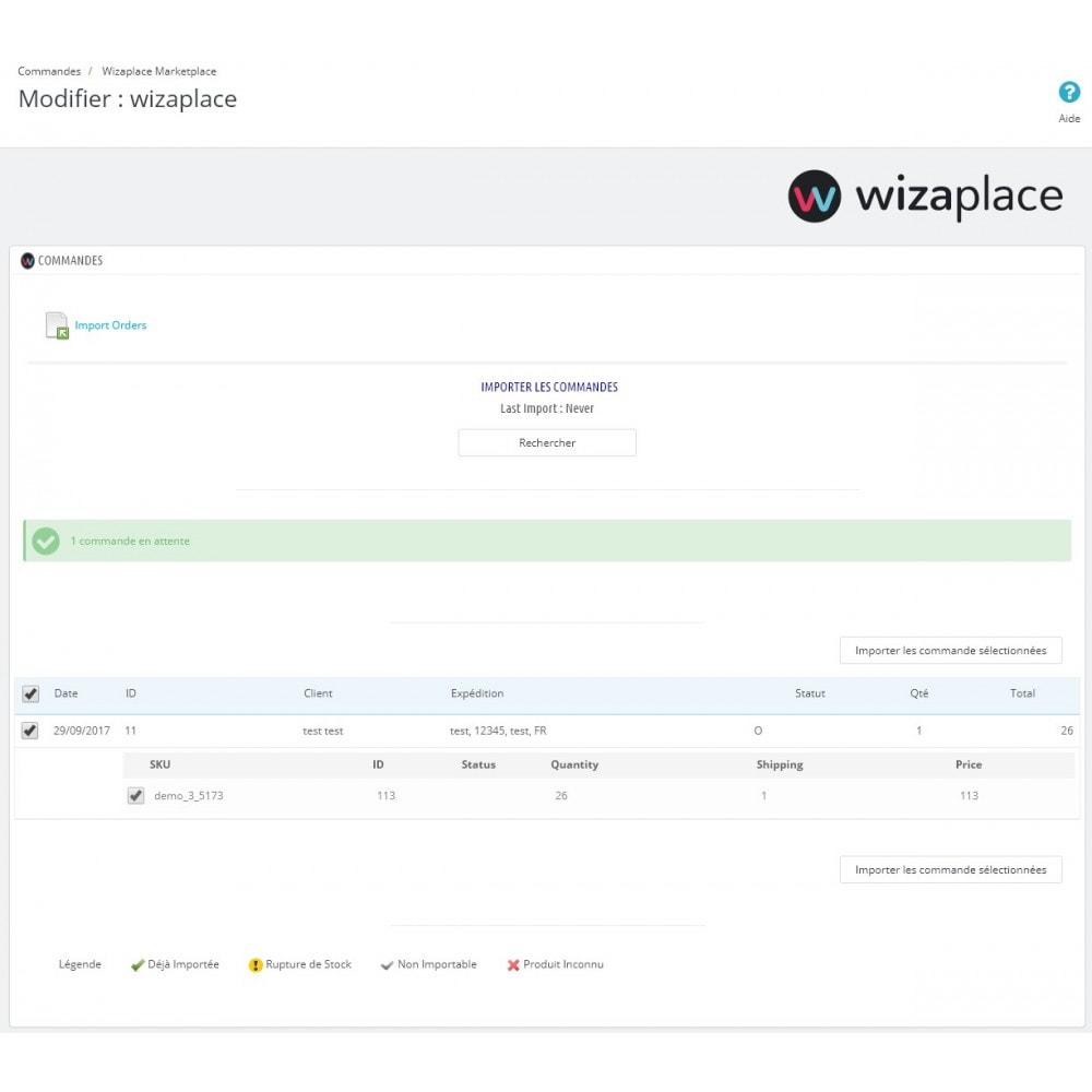 module - Marketplaces - Wizaplace marketplaces connector - 4