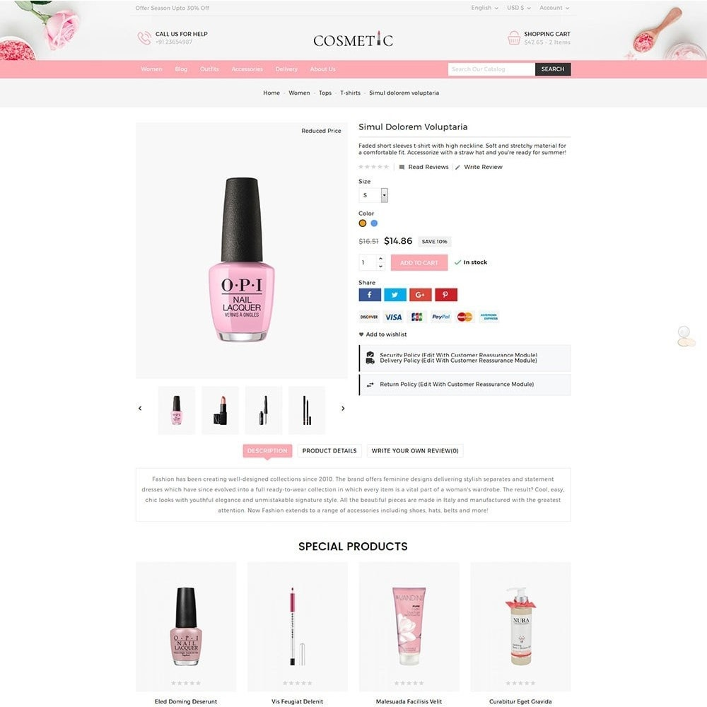theme - Zdrowie & Uroda - Cosmetics Store - 6