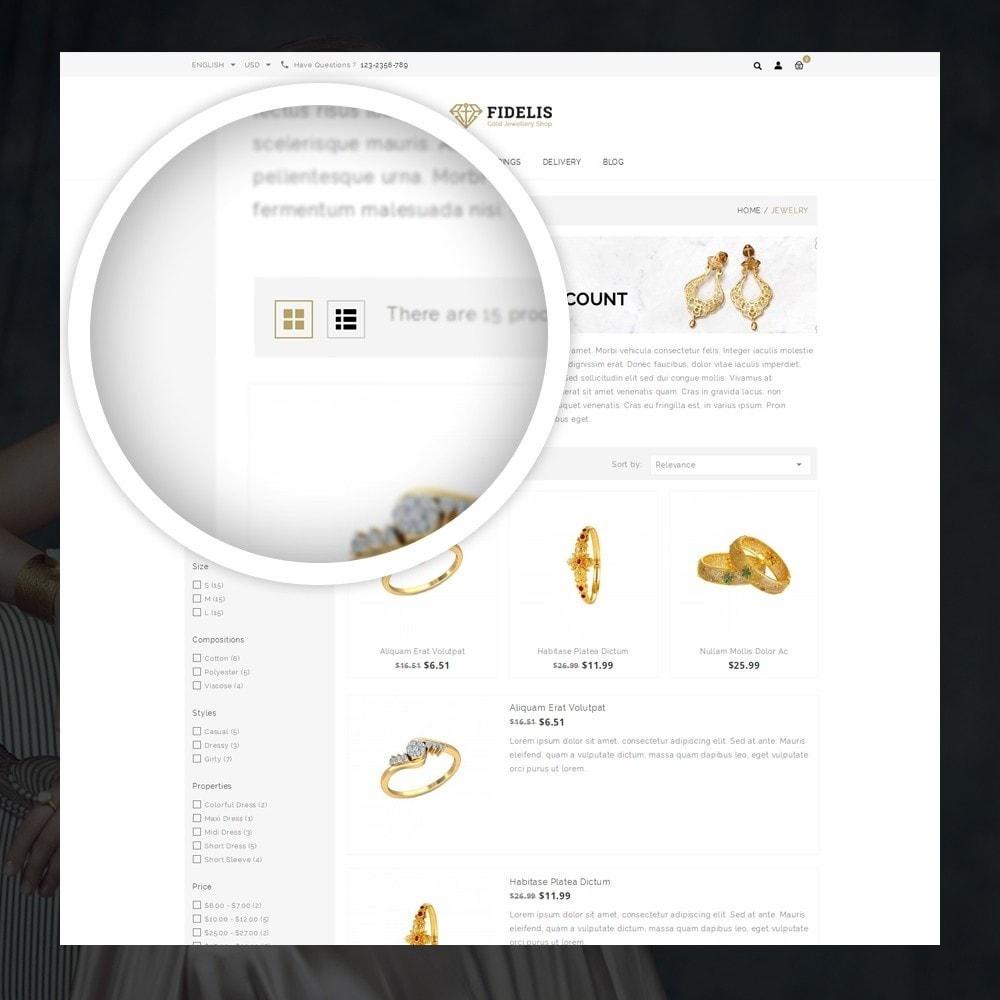 theme - Jewelry & Accessories - Fidelis - Jewelry Store - 3