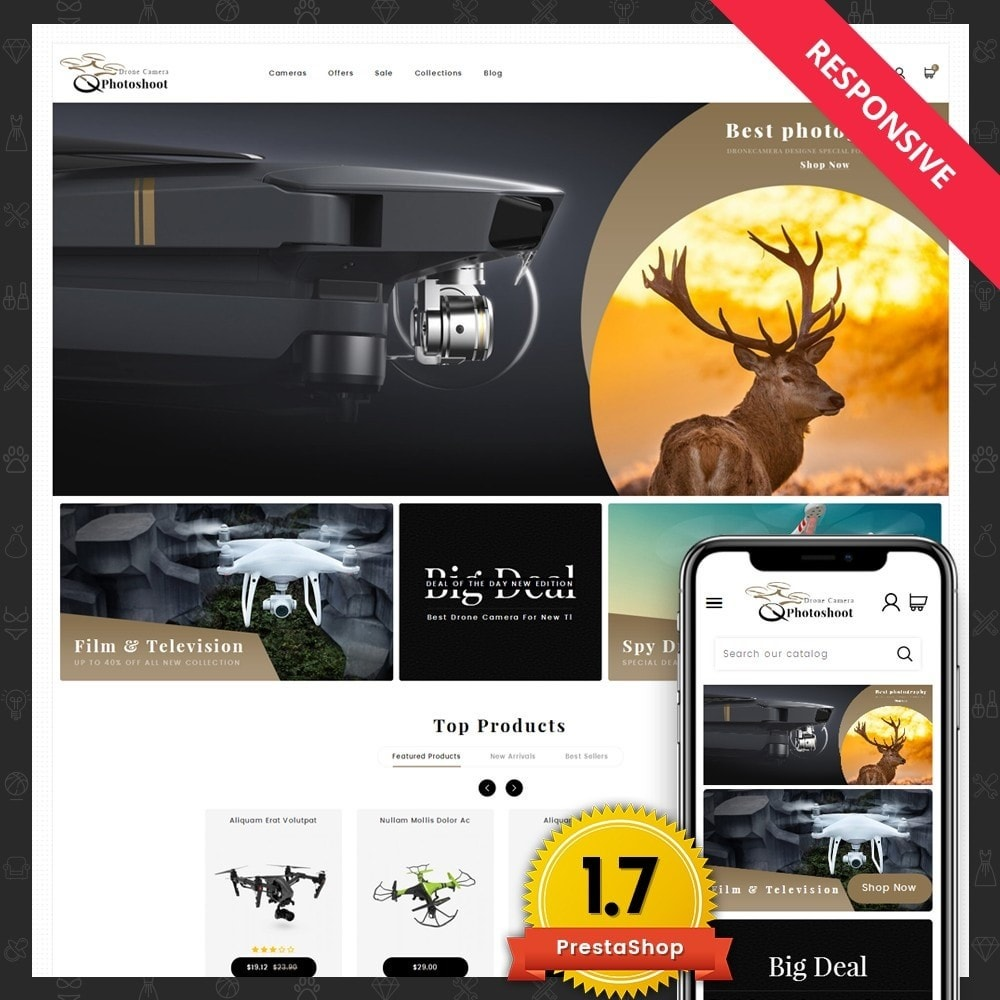 theme - Elektronica & High Tech - Drone Camera Store - 1
