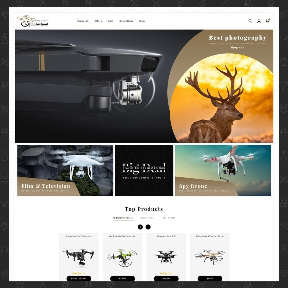 theme - Elektronica & High Tech - Drone Camera Store - 2