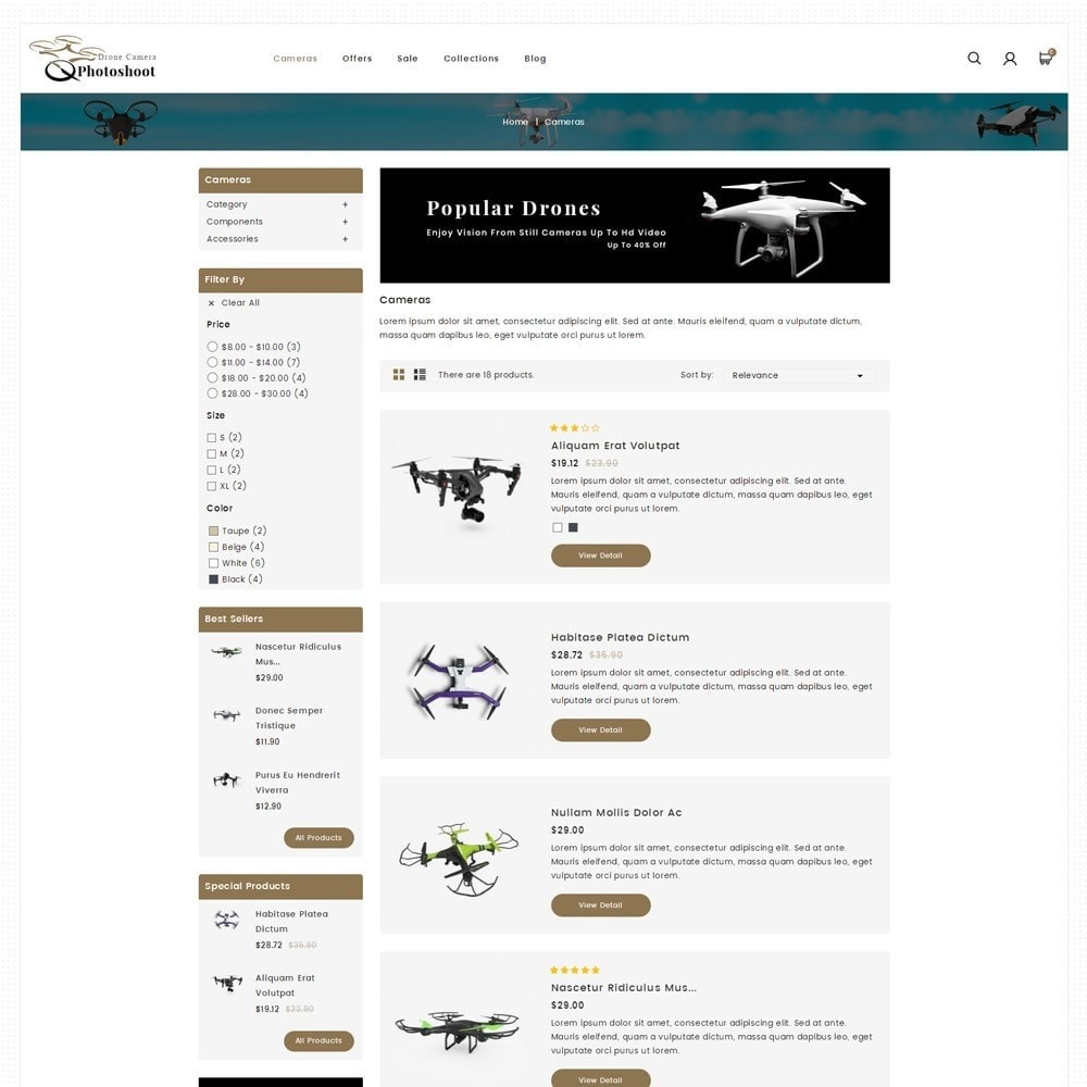 theme - Elektronica & High Tech - Drone Camera Store - 4