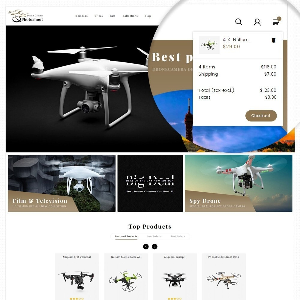 theme - Elektronica & High Tech - Drone Camera Store - 8