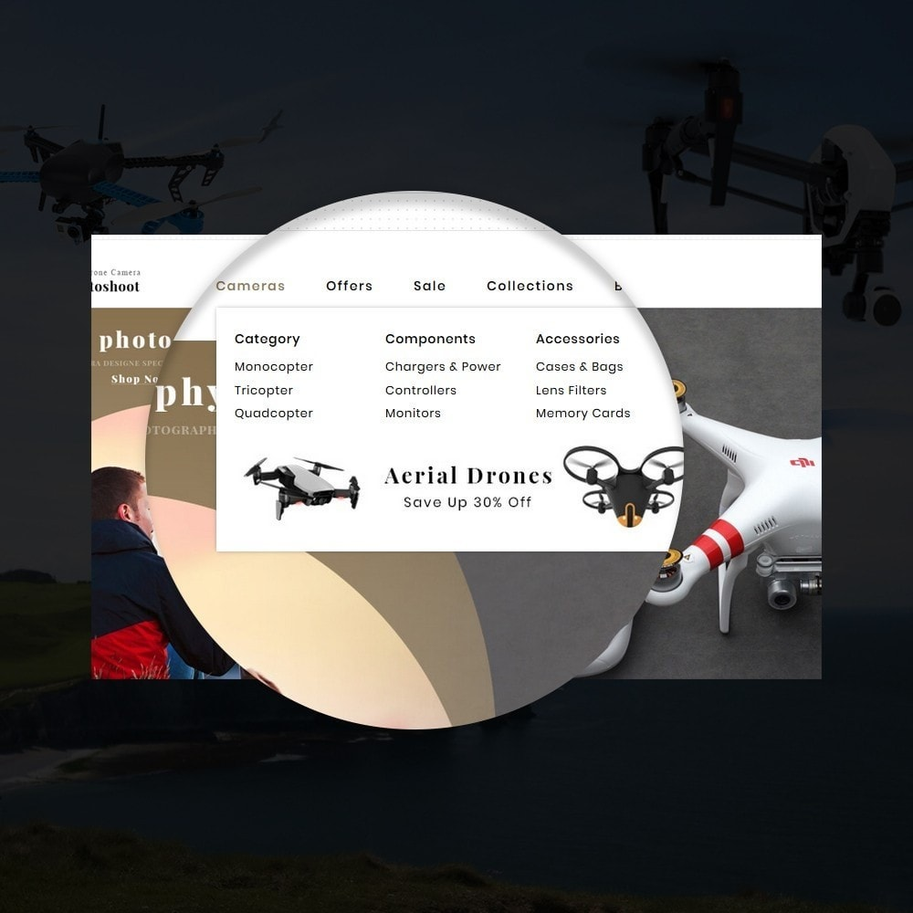 theme - Elektronica & High Tech - Drone Camera Store - 9