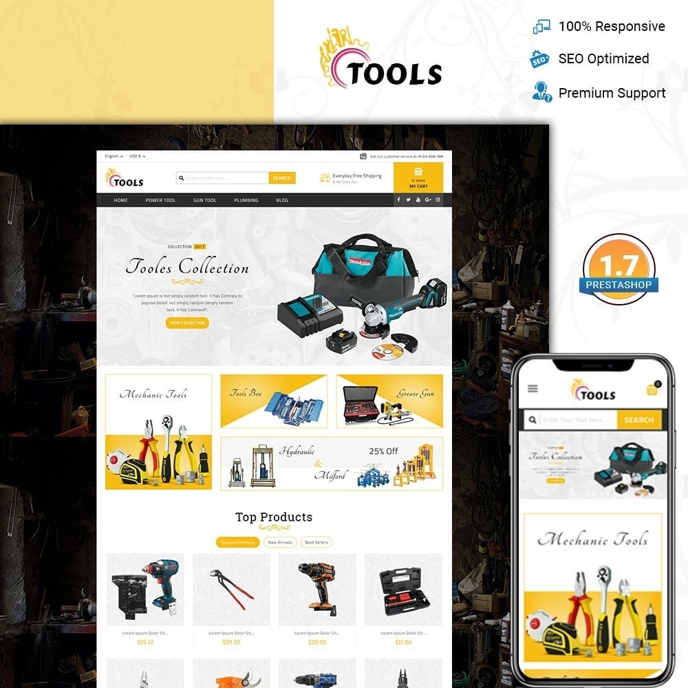 theme - Elektronik & High Tech - Tools Store - 1