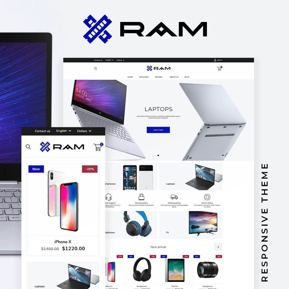 theme - Электроника и компьютеры - Ram - High-tech Shop - 1