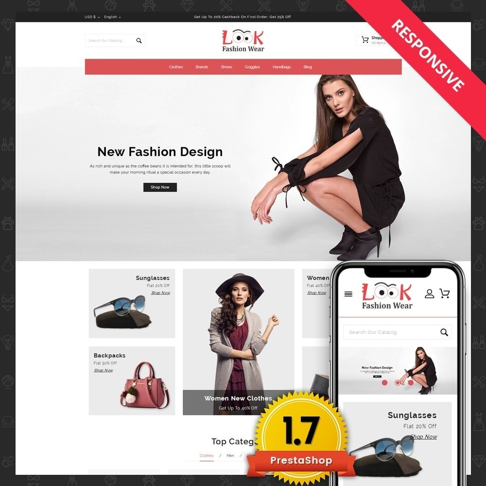 theme - Fashion & Shoes - Look - Fashion Store - 1
