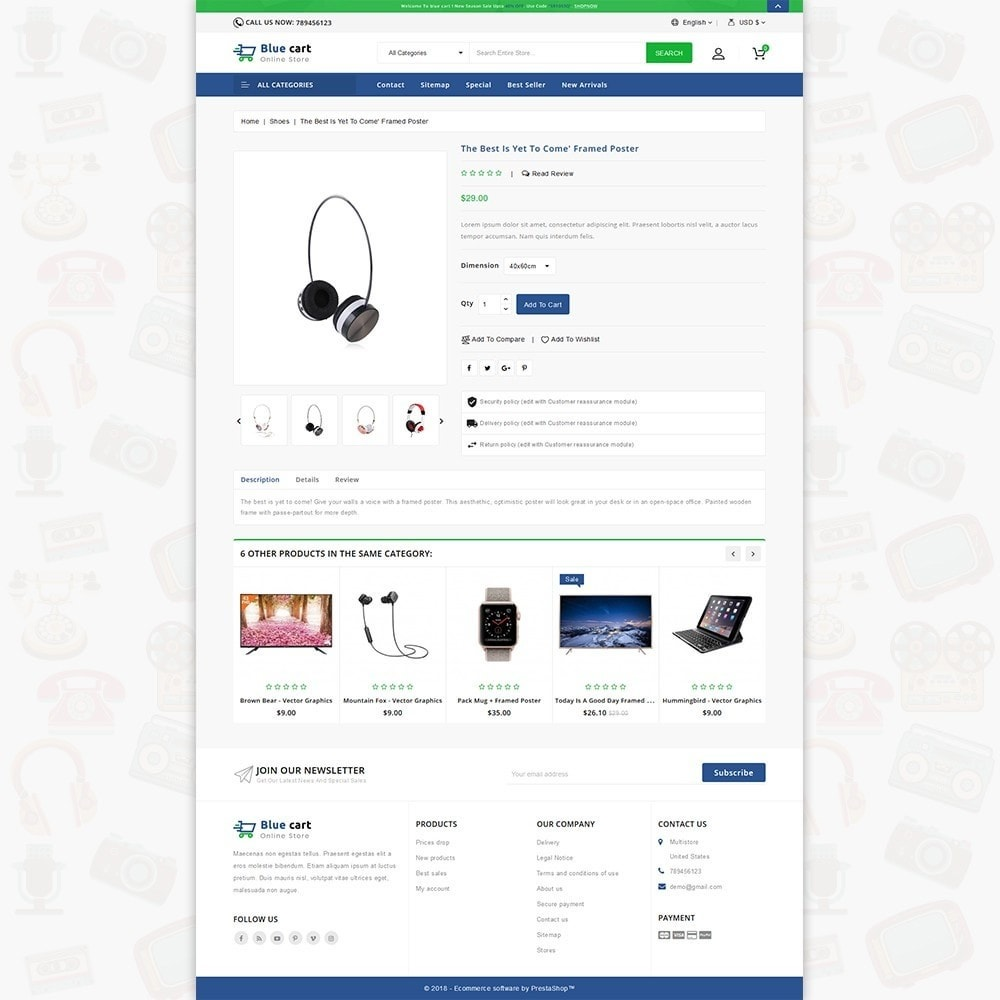 theme - Eletrônicos & High Tech - Blue Cart - The Online Store - 5