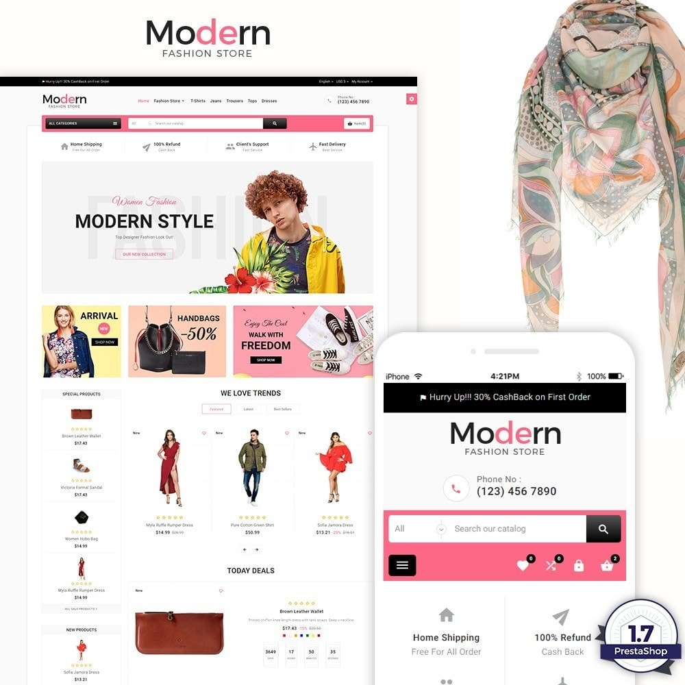 Modern - Fashion and Shoes Mega Shop