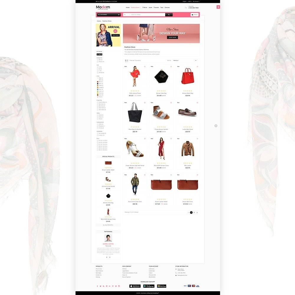 Modern - Fashion and Shoes Mega Shop