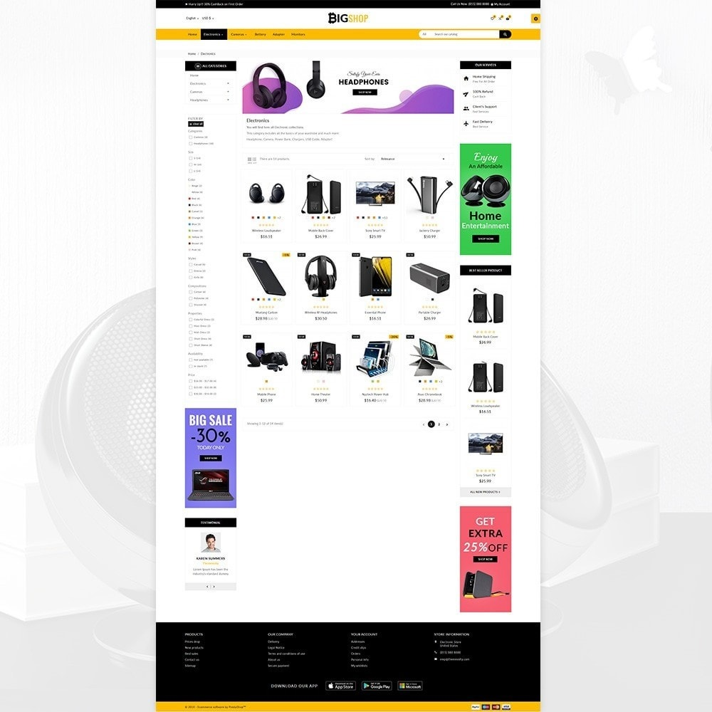 theme - Elettronica & High Tech - BigShop – Electronic Mega Super Store - 5