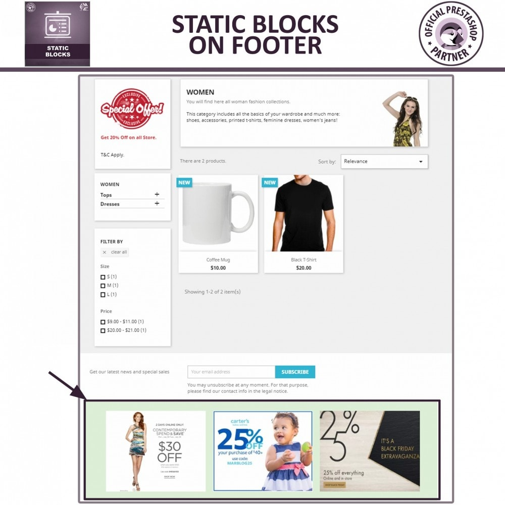 module - Блоки, вкладки и Баннеры - Static Blocks - Add Custom HTML, Text, Media Blocks - 5