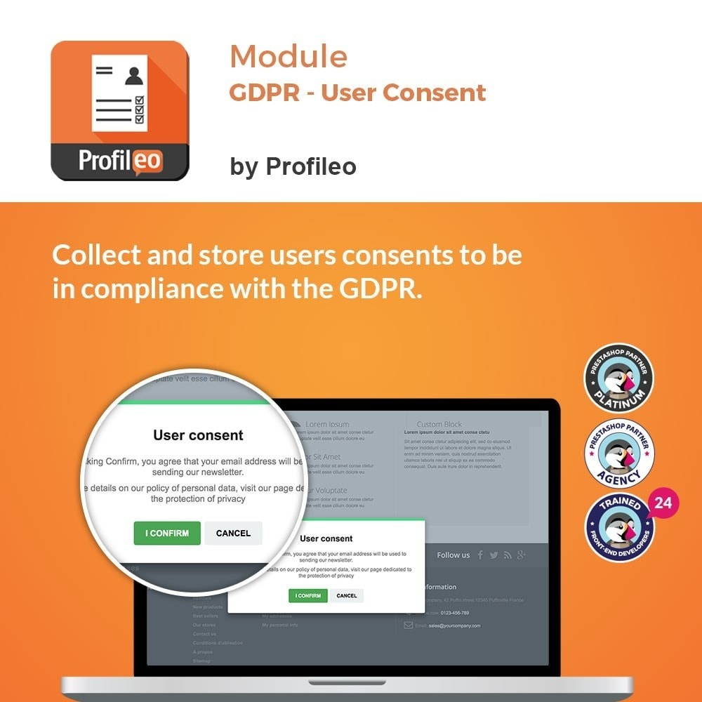 bundle - Wzmianki prawne - GDPR Pack 1 : User consent / Data request / Oblivion - 1