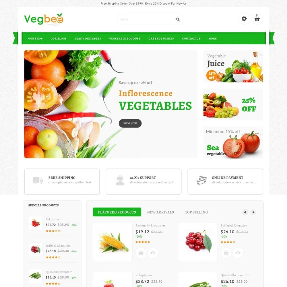 theme - Alimentation & Restauration - Vegbee - The Grocery Store - 2