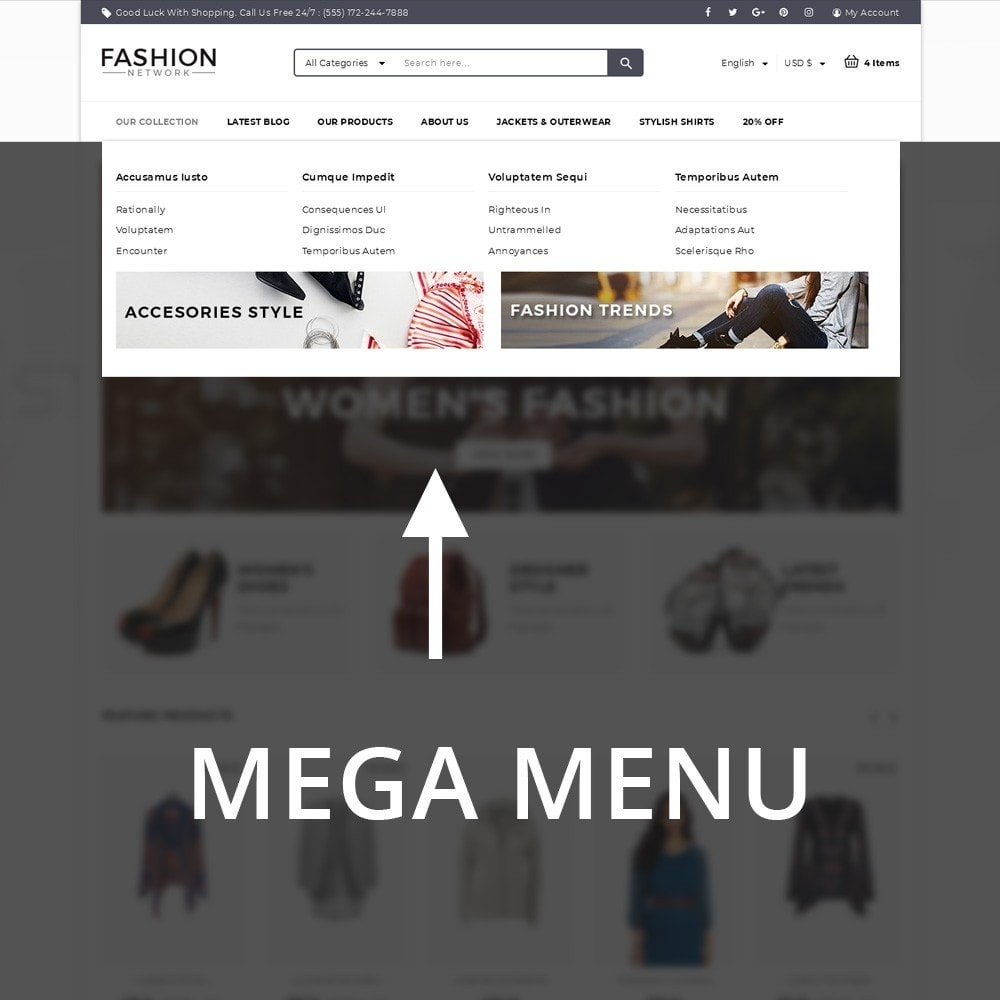 theme - Мода и обувь - Fashion Network - The Fashion Shop - 8