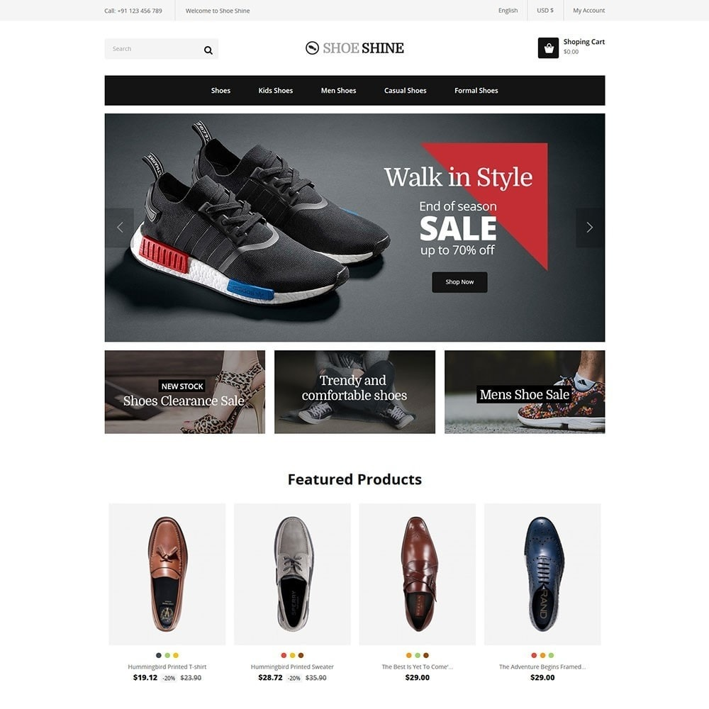 theme - Mode & Schoenen - Shoe Shine Fasion Store - 2
