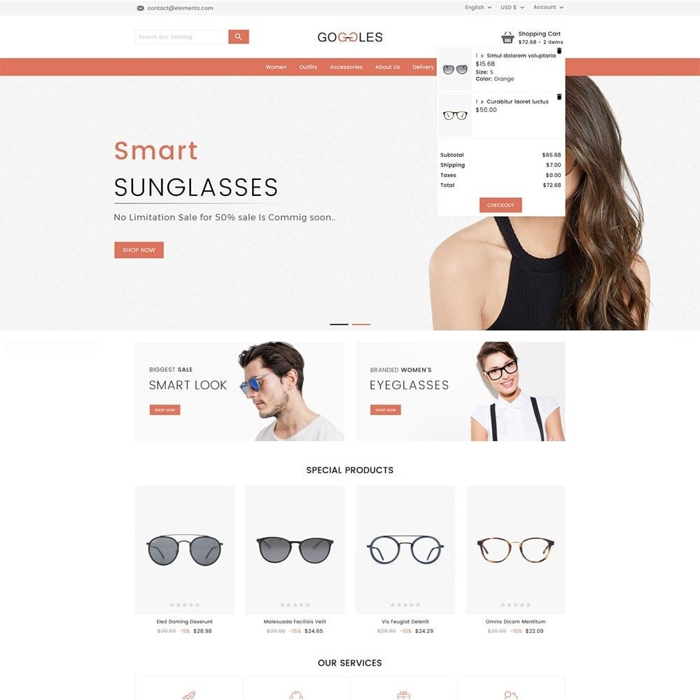 Goggles Online Store