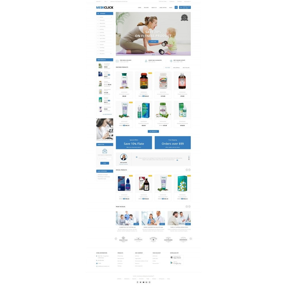 theme - Здоровье и красота - MediClick - Drugs Store - 2