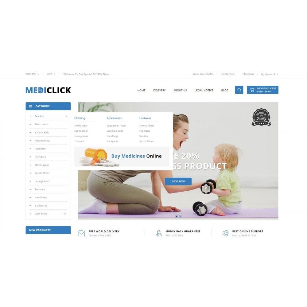 theme - Здоровье и красота - MediClick - Drugs Store - 6