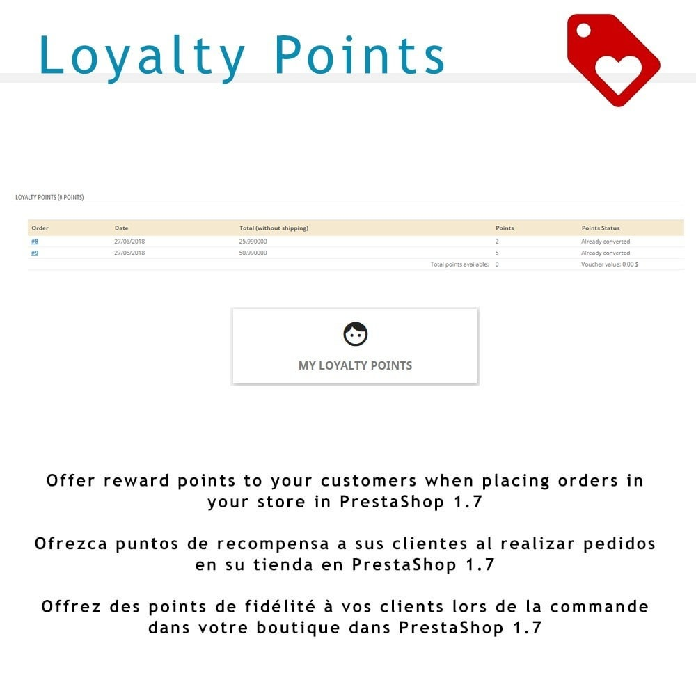 module - Lojalność & Rekomendowanie - Loyalty Points for PS 1.7 - 1
