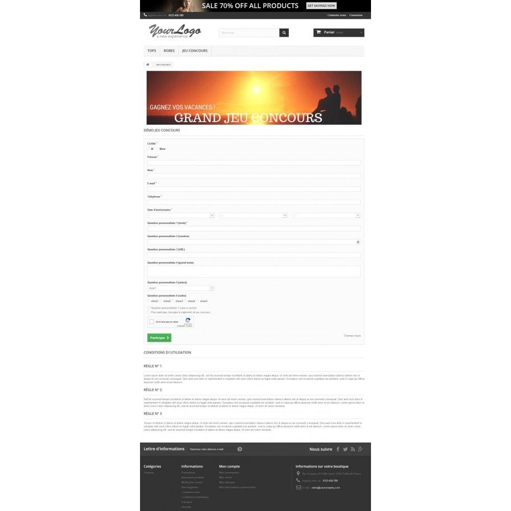 module - Jeux-concours - Jeux concours - Form personnalisable - Tirage au sort - 2