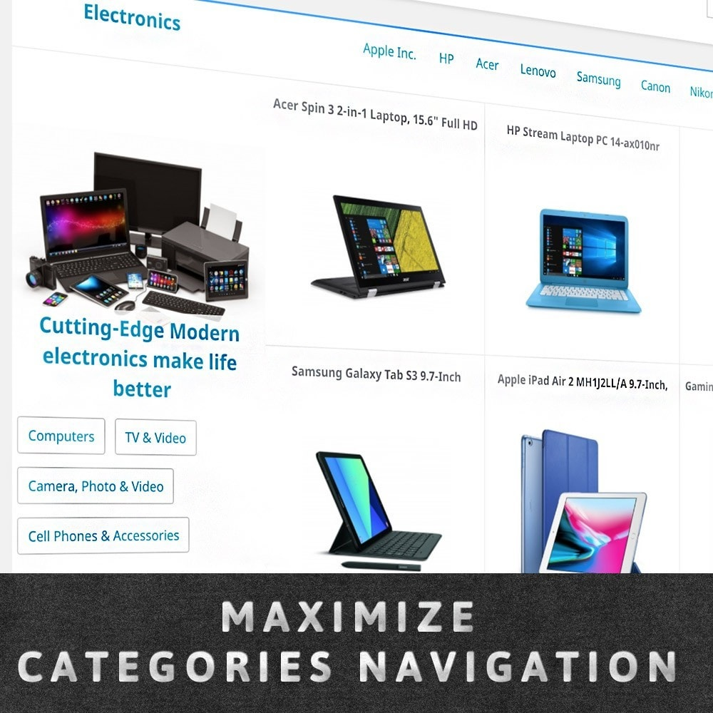 module - Personnalisation de Page - MAX Category Navigation (AliExpress) - 1