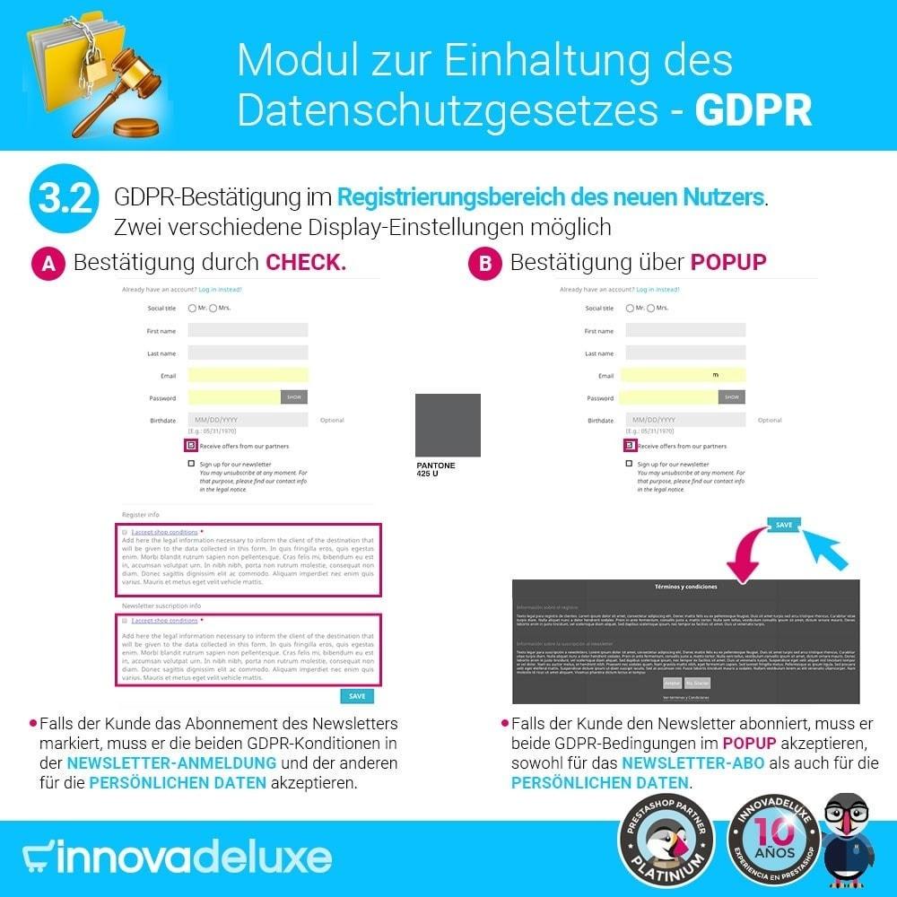 module - Rechtssicherheit - Einhaltung der Datenschutzgesetze - GDPR - 5