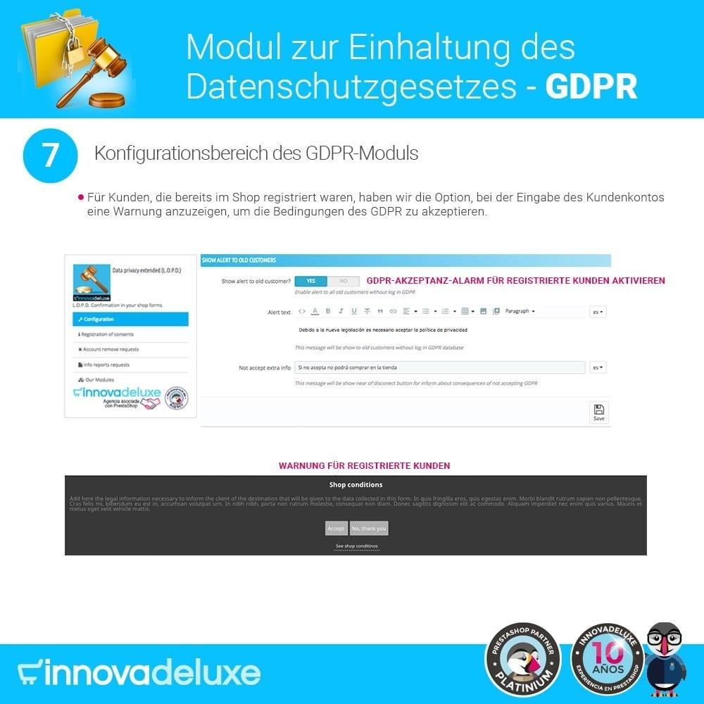 module - Rechtssicherheit - Einhaltung der Datenschutzgesetze - GDPR - 14