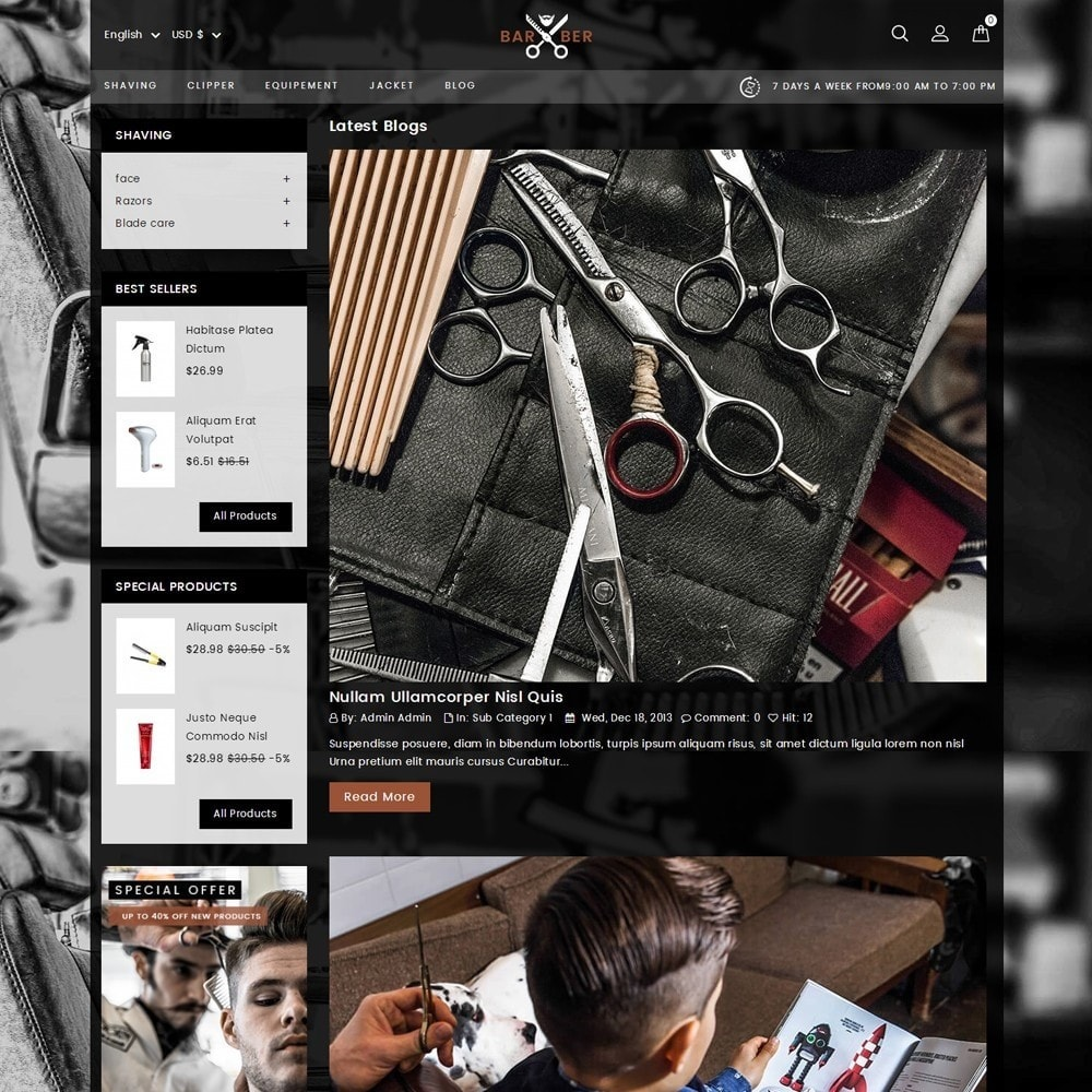 theme - Health & Beauty - Barber Store - 8