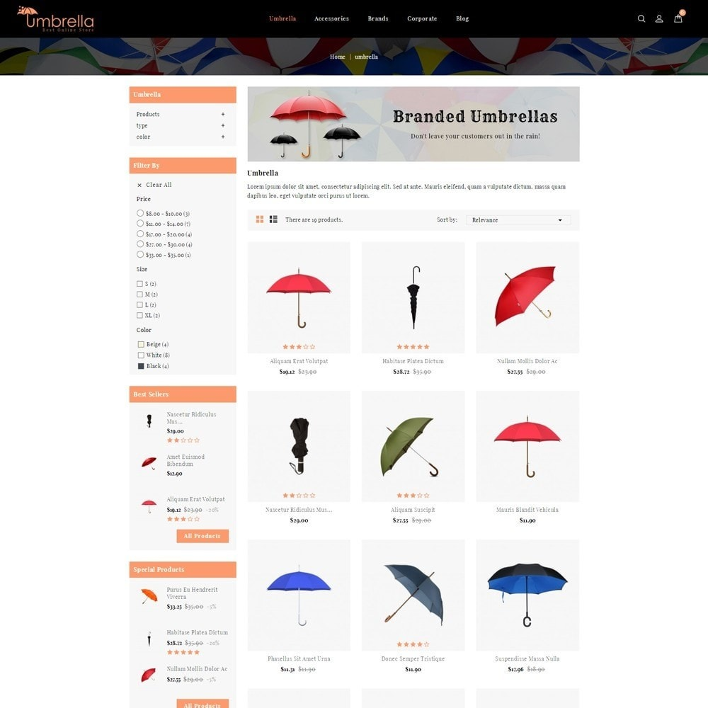 theme - Moda y Calzado - Umbrella Store - 3