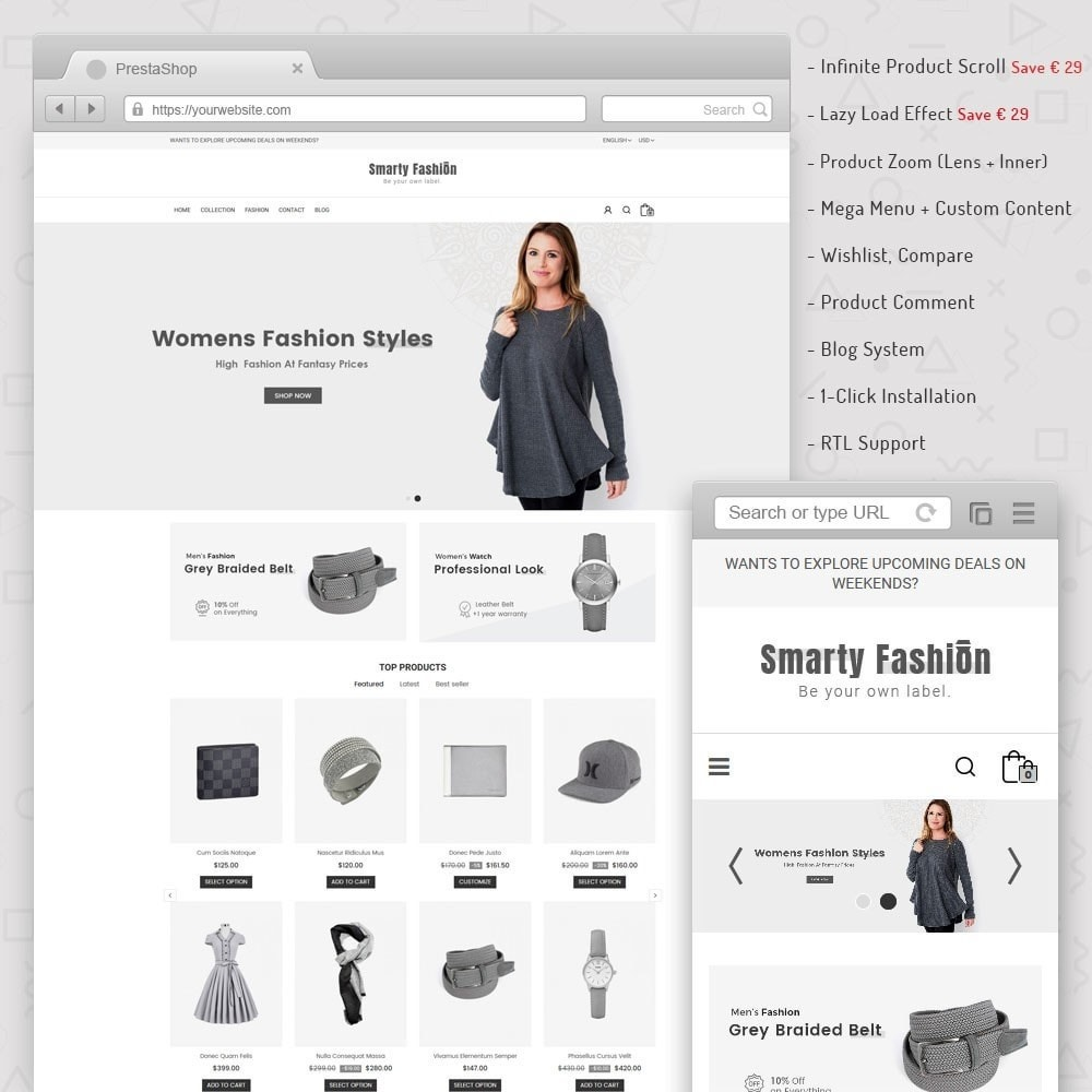 theme - Moda & Calçados - Smarty Fashion Store - 1