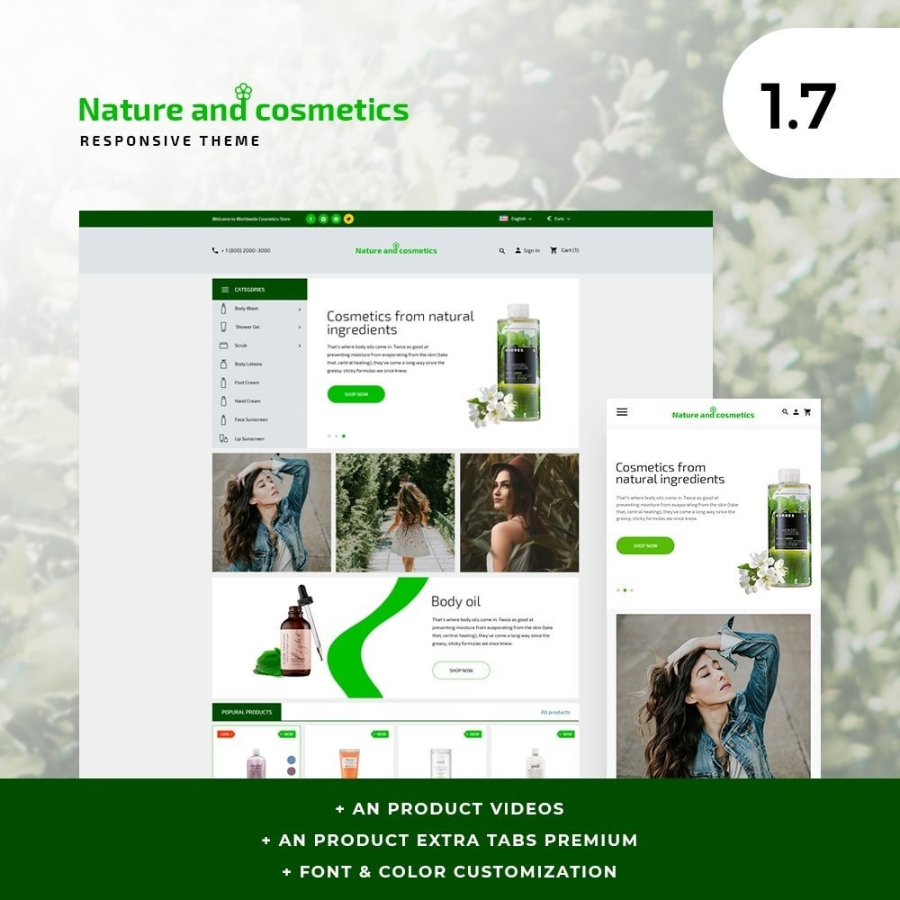 theme - Health & Beauty - Nature and cosmetics - 1