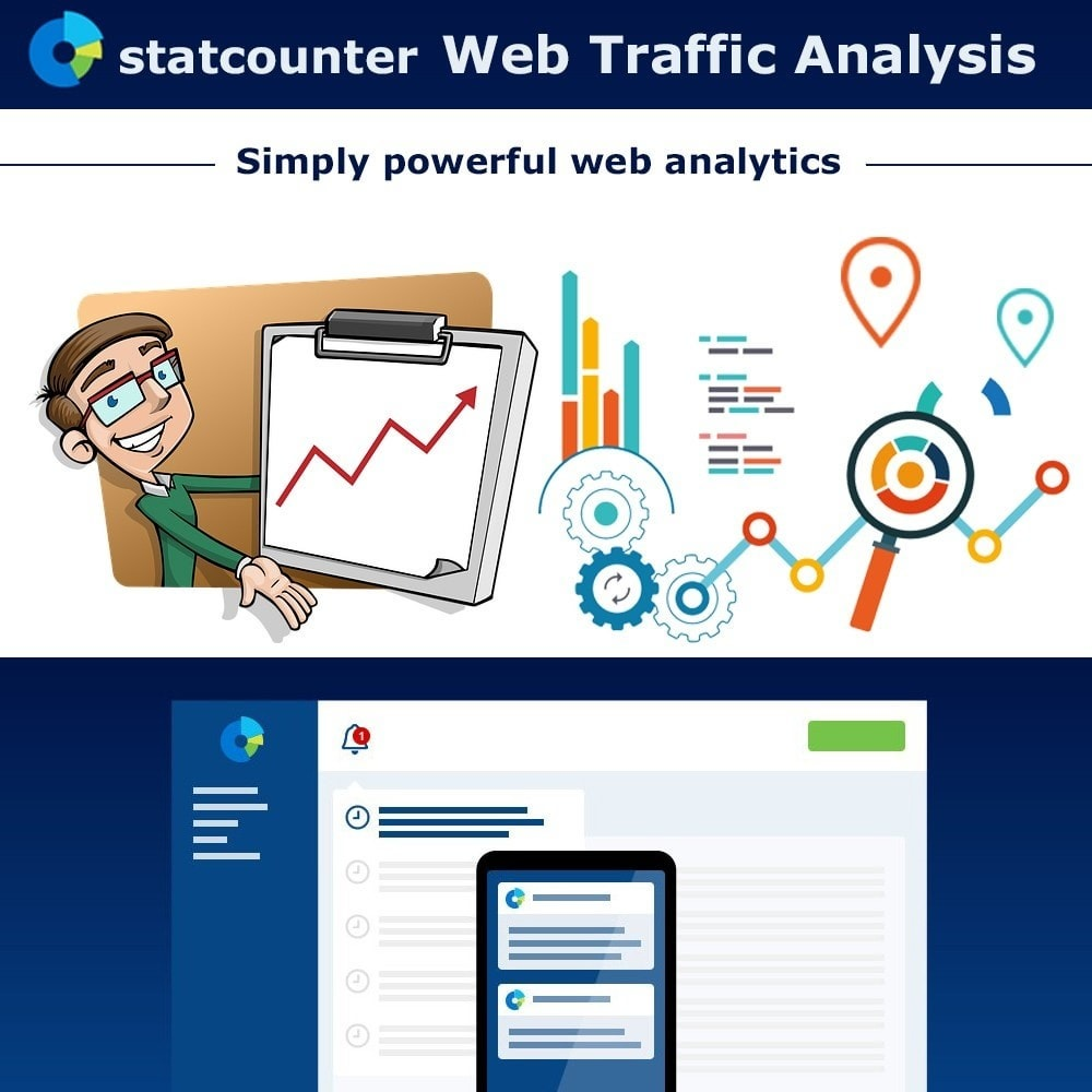 module - Analytics & Statistics - Web Traffic Analysis with StatCounter - 1