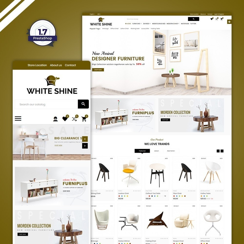 White Shine - Wood Furniture Mega Shop