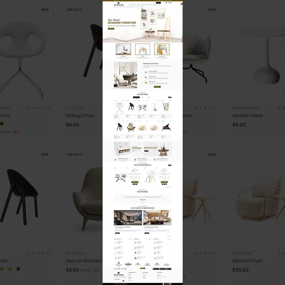 theme - Moda & Calçados - White Shine – Wood Furniture Mega Shop - 2