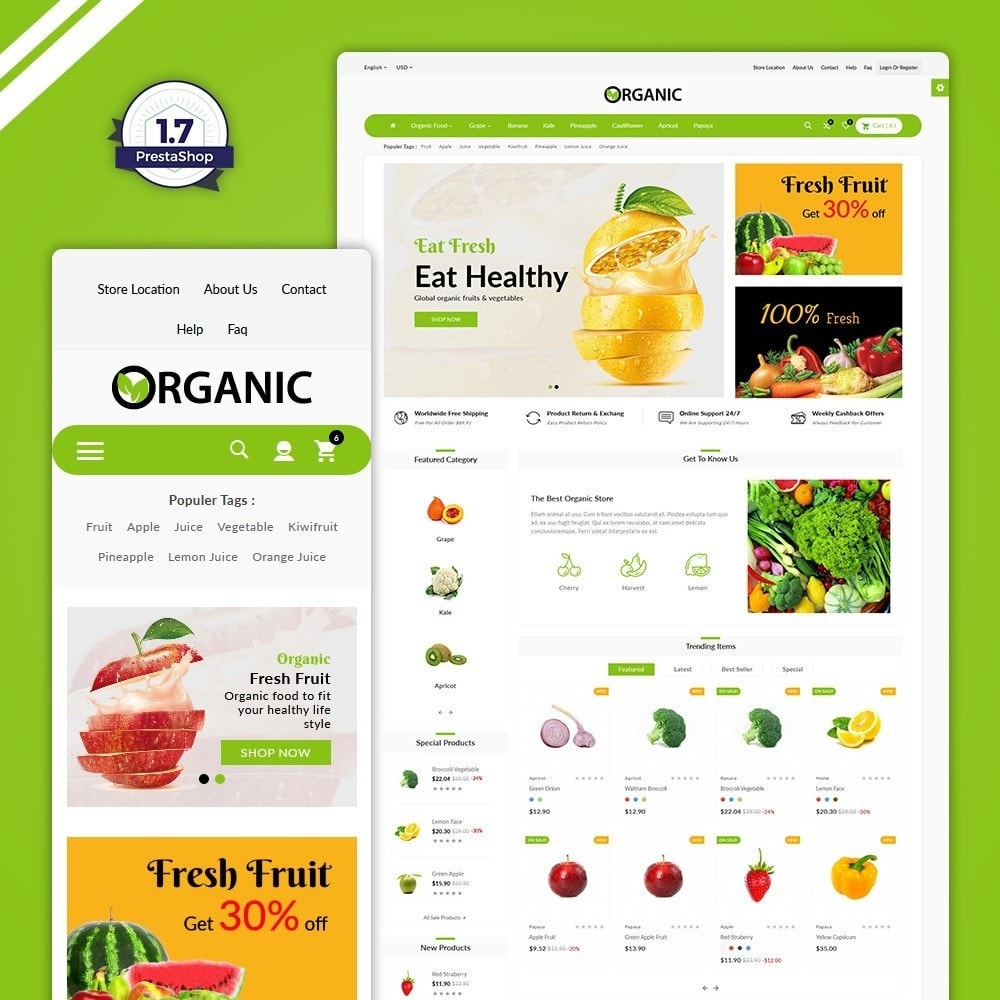 theme - Lebensmittel & Restaurants - The Organic Shop - 1