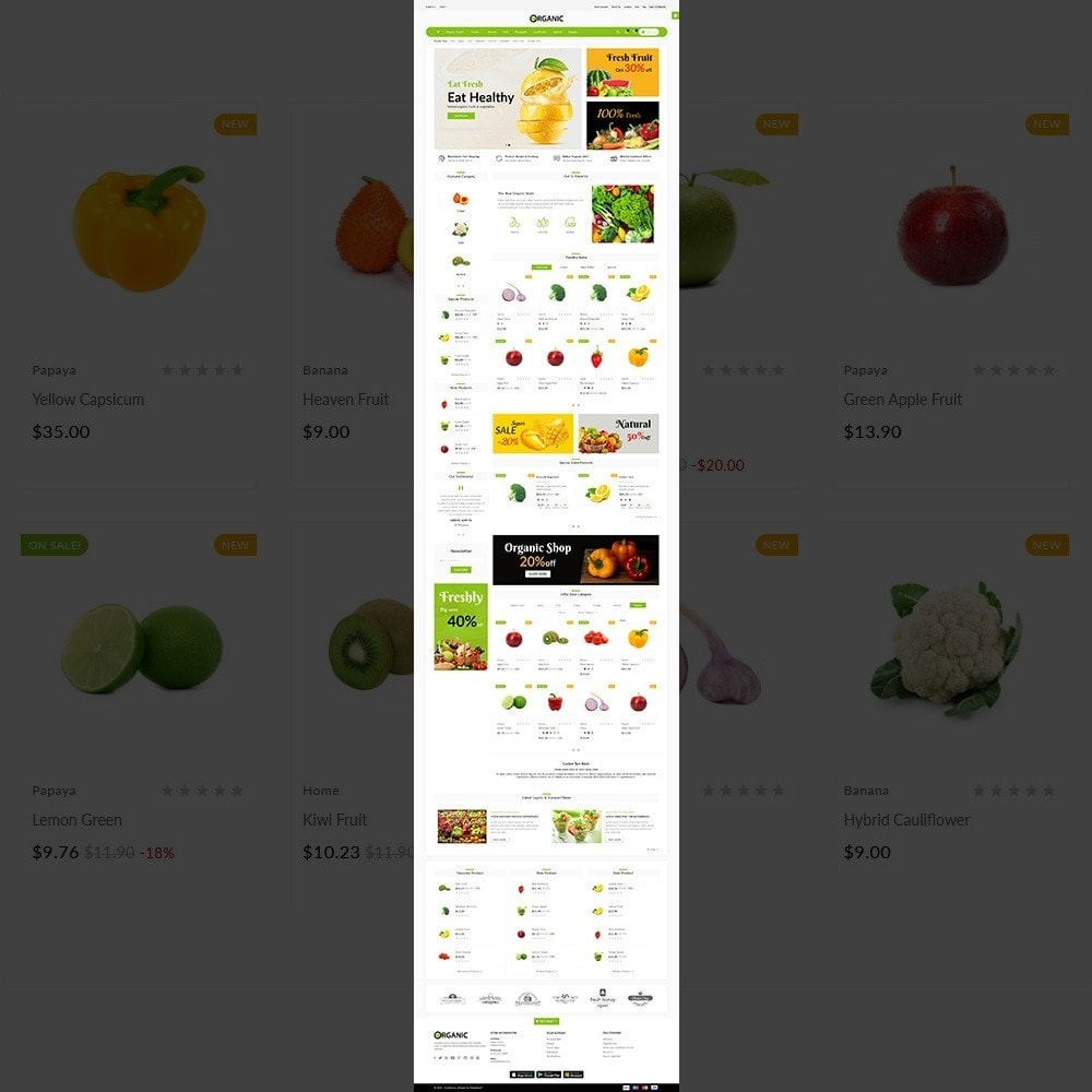 theme - Alimentos & Restaurantes - The Organic Shop - 2