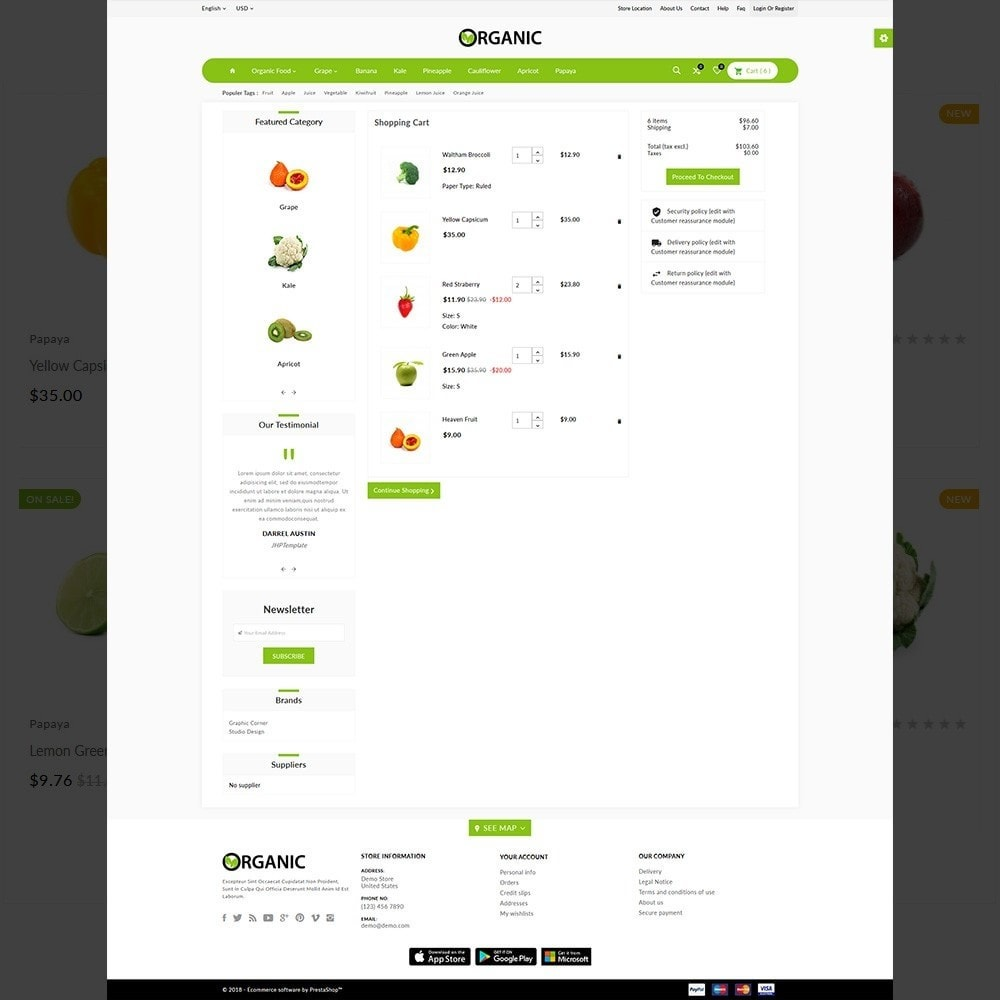 theme - Alimentos & Restaurantes - The Organic Shop - 4