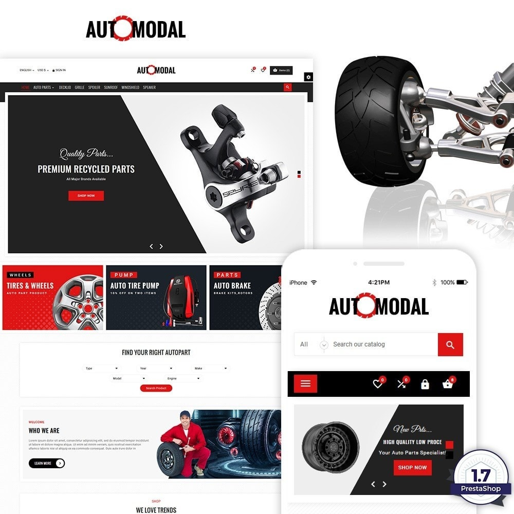 theme - Autos & Motorräder - Auto Modal – Auto Part & Accessories Multi Store - 1