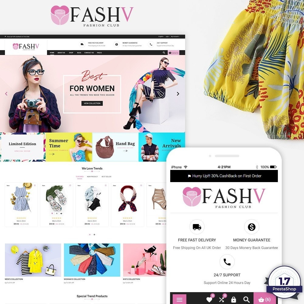 theme - Moda & Calçados - FashV – Fashion Stylish Super Store - 1