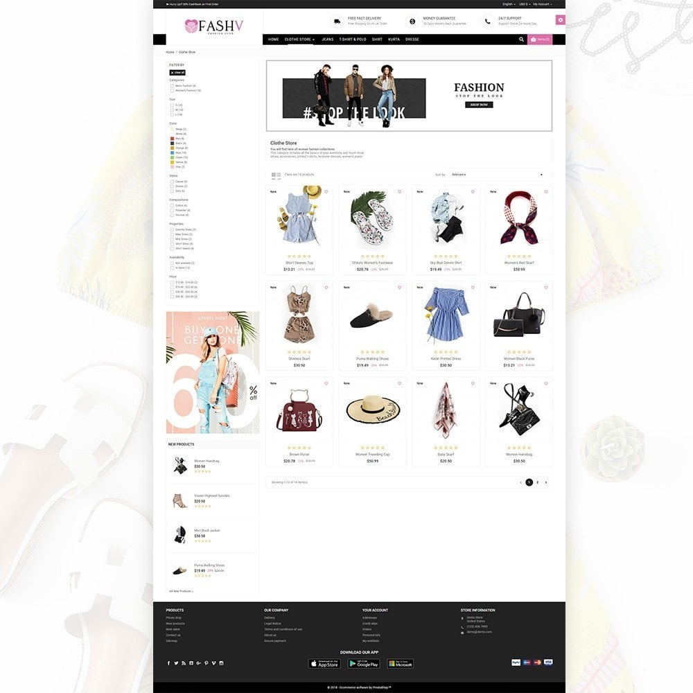 theme - Moda & Calçados - FashV – Fashion Stylish Super Store - 3