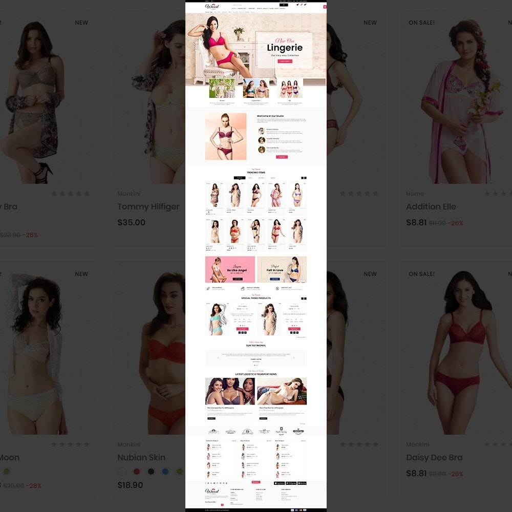 theme - Lenceria y Adultos - The lingerie Store - 2