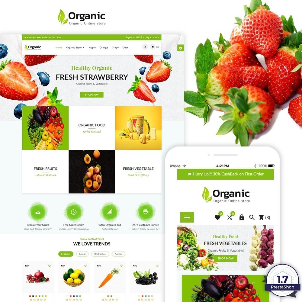 Organic - Fresh Food Market Store