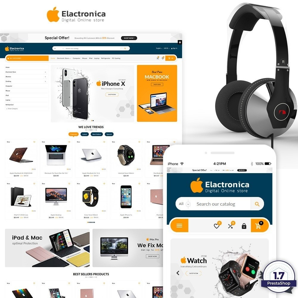 theme - Elektronica & High Tech - Electronica – Electronic Multipurpose Store - 1