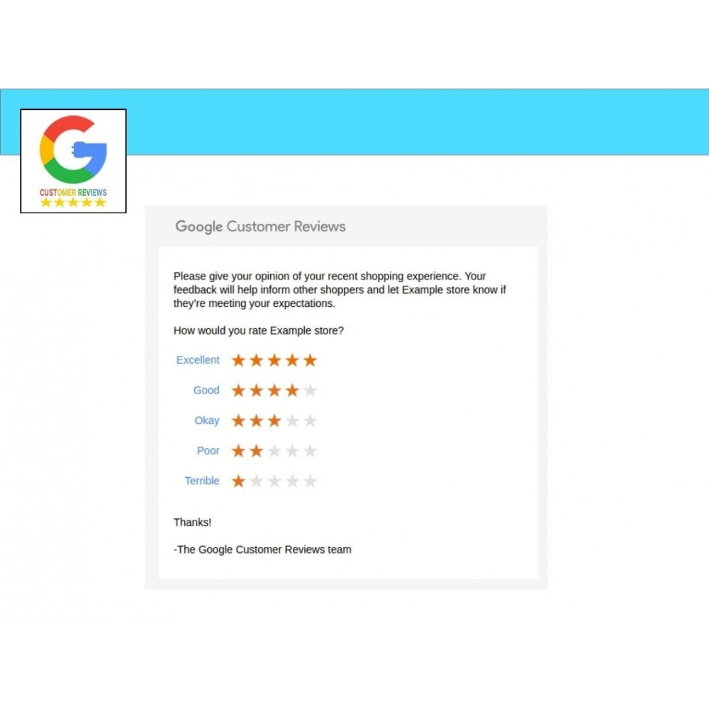 module - Recensioni clienti - Google Customer Reviews - 2