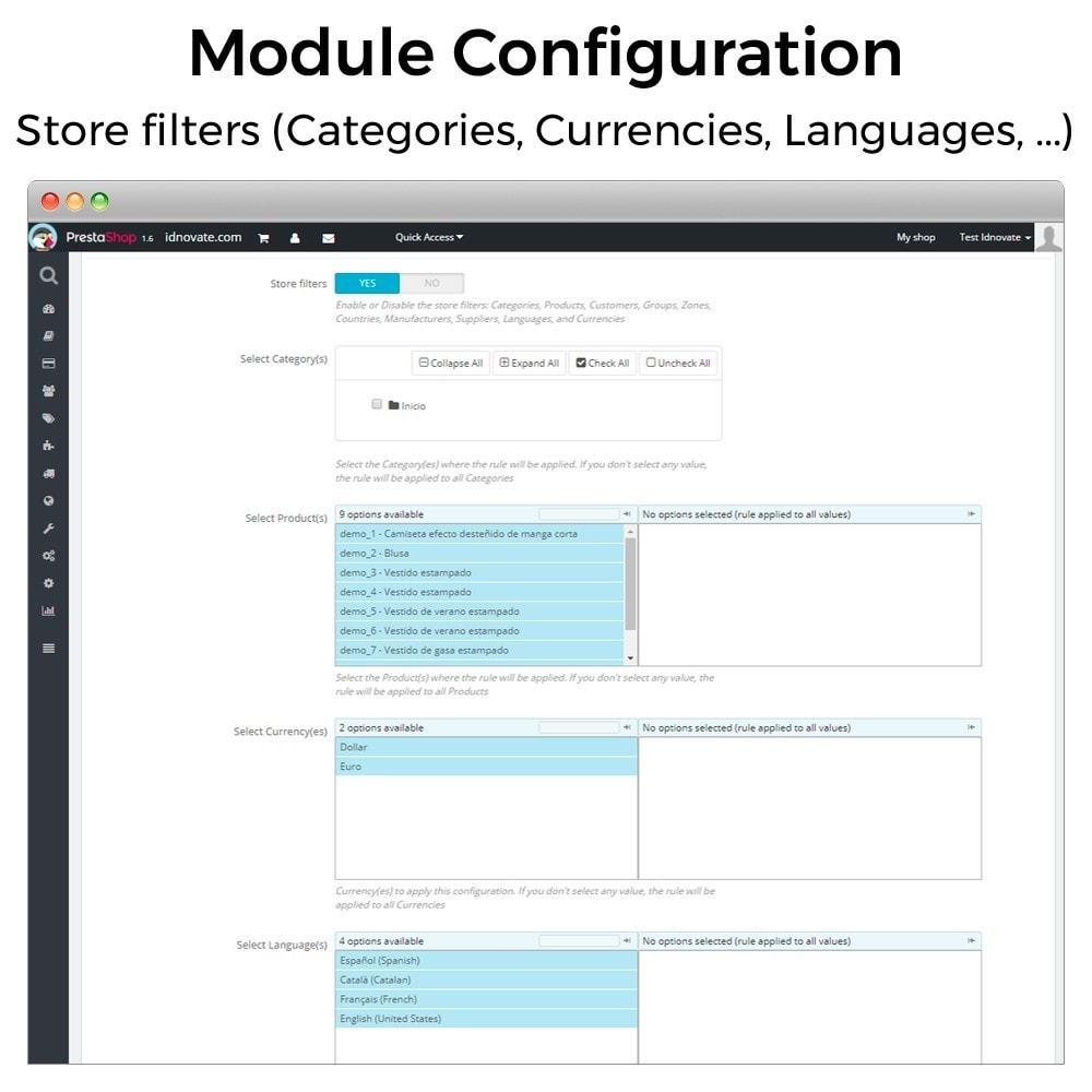 module - Inscripción y Proceso del pedido - Cantidad mínima y máxima de compra de producto - 5